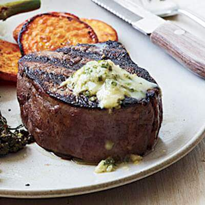 Horseradish & Butter Steaks Recipe