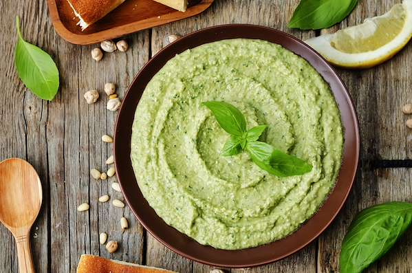 Hummus Pesto Dip Recipe