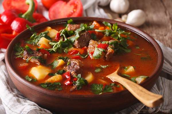 Hungarian Goulash Soup Recipe
