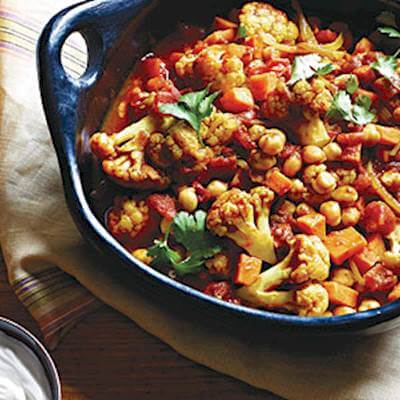 Indian Chickpeas & Veggie Curry Recipe
