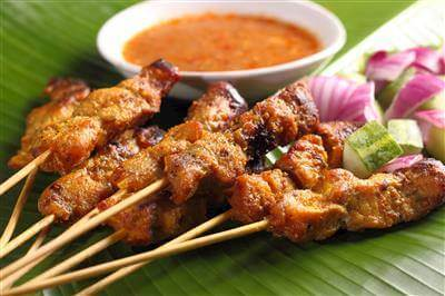 Indonesian Chicken Skewers With Peanut Sauce Recipe