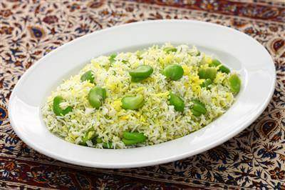 Iranian Rice With Broad Beans & Dill Recipe