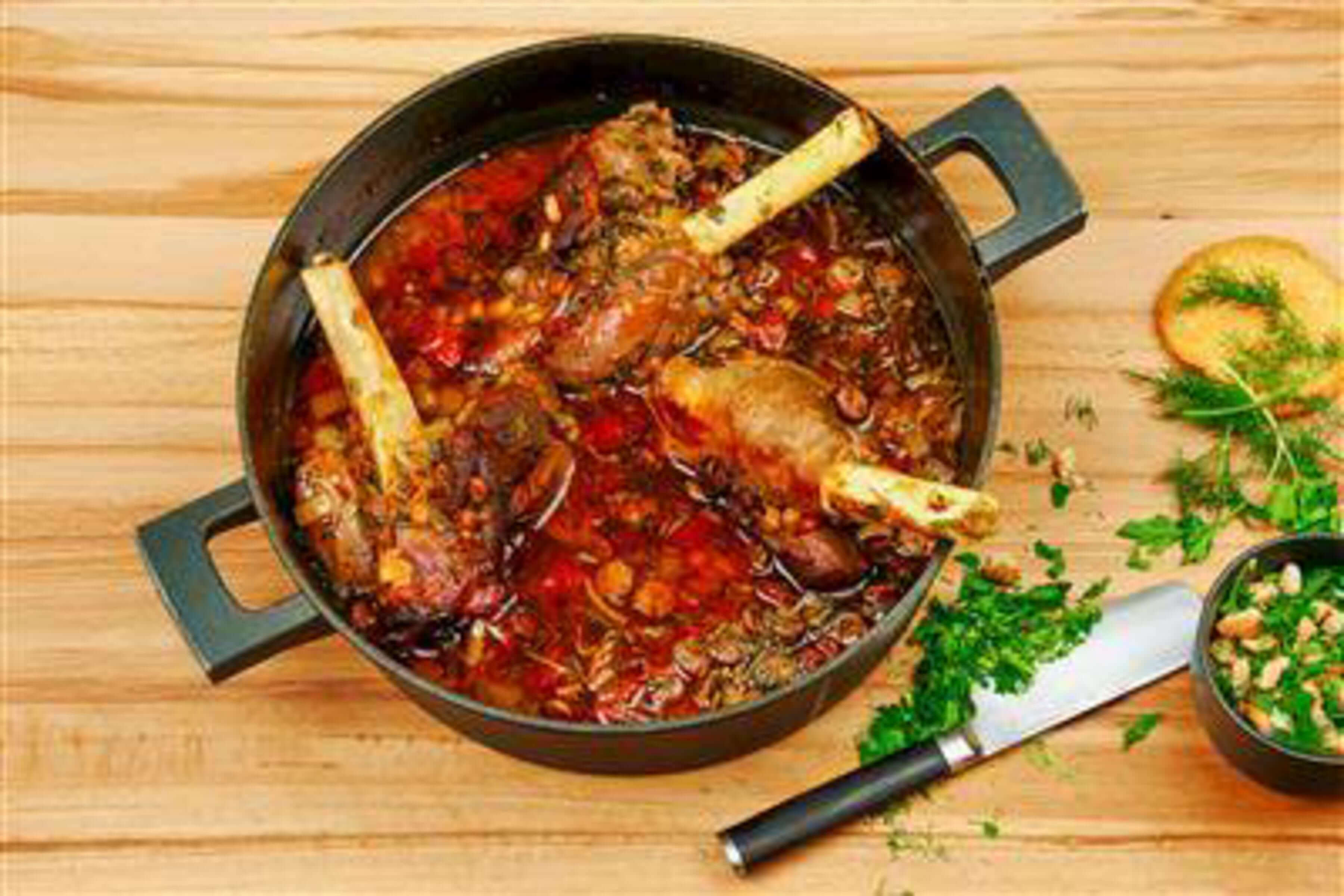 Lamb Shanks With Beans Recipe | RecipeSavants.com