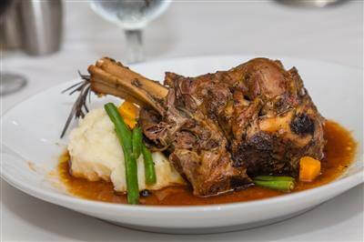 Lamb Shanks With Sweet Peas & Mint Recipe