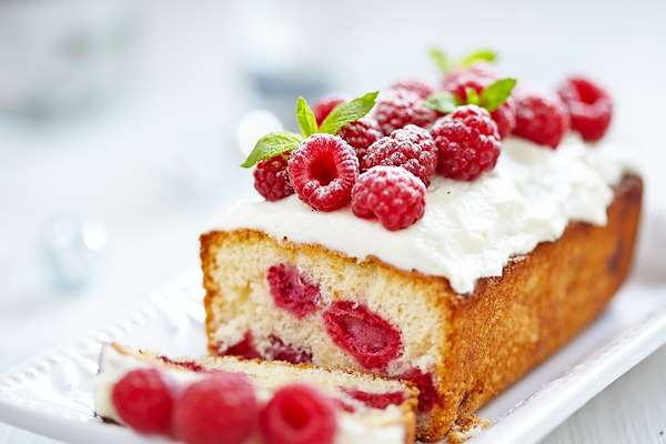 Lemon Raspberry Pound Cake Recipe