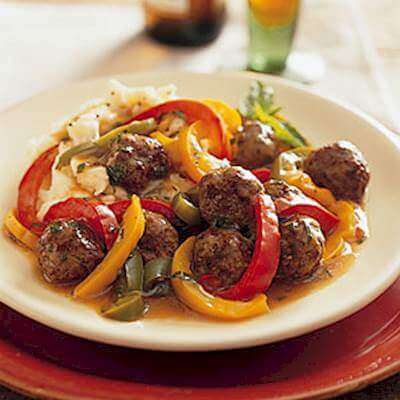 Meatballs And Peppers Recipe