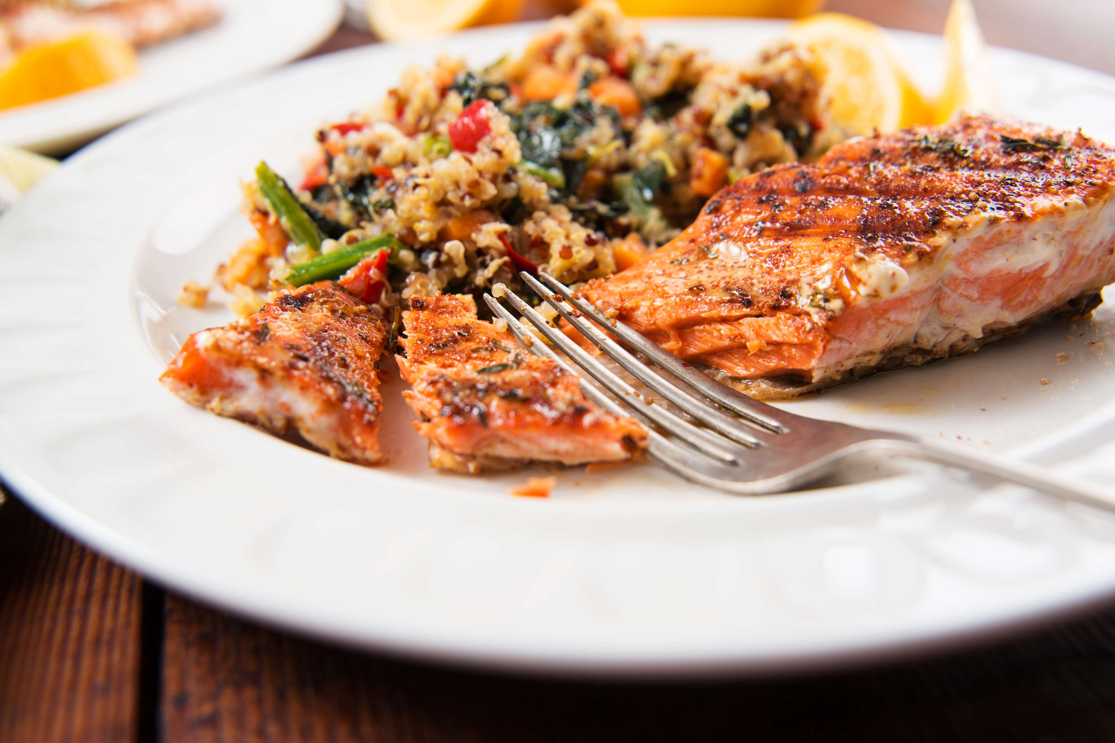 Mediterranean-Style Salmon With Quinoa Recipe | RecipeSavants.com