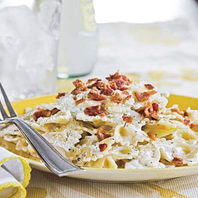 Microwave Bow Tie Pasta With Bacon Recipe