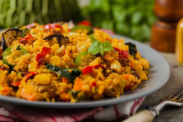 Moroccan-Style Couscous With 7 Vegetables Recipe