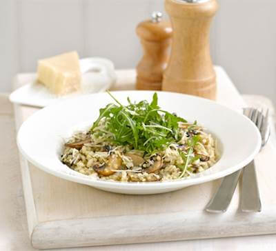 Mushroom And Thyme Risotto Recipe