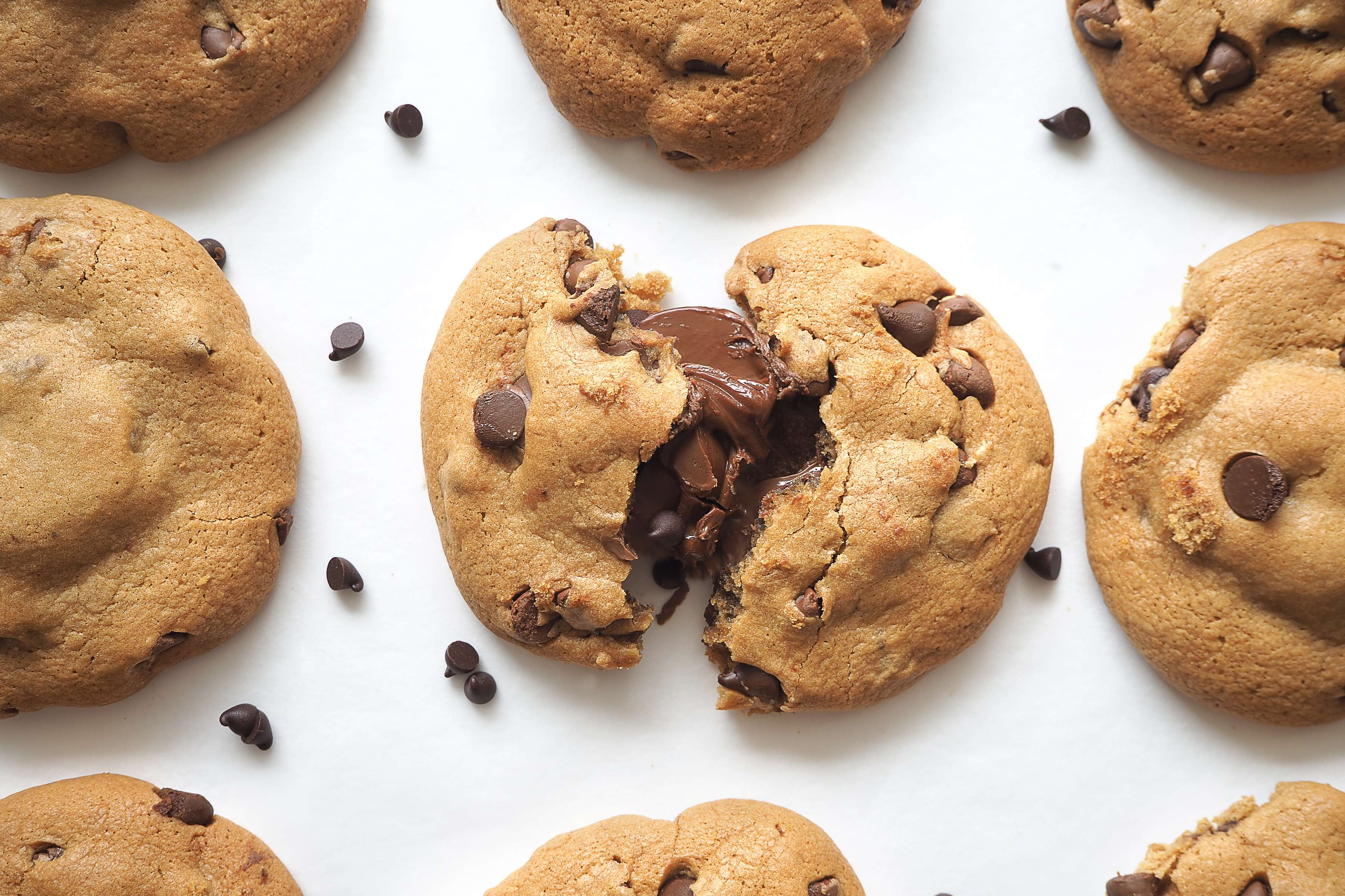 Nutella Chocolate Chip Cookies Recipe | RecipeSavants.com