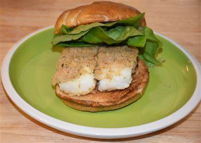 Oven Fried Fish Fillet Sandwich Recipe