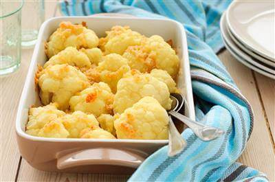 Oven-Roasted Cauliflower With Garlic, Olive Oil & Lemon Juice Recipe