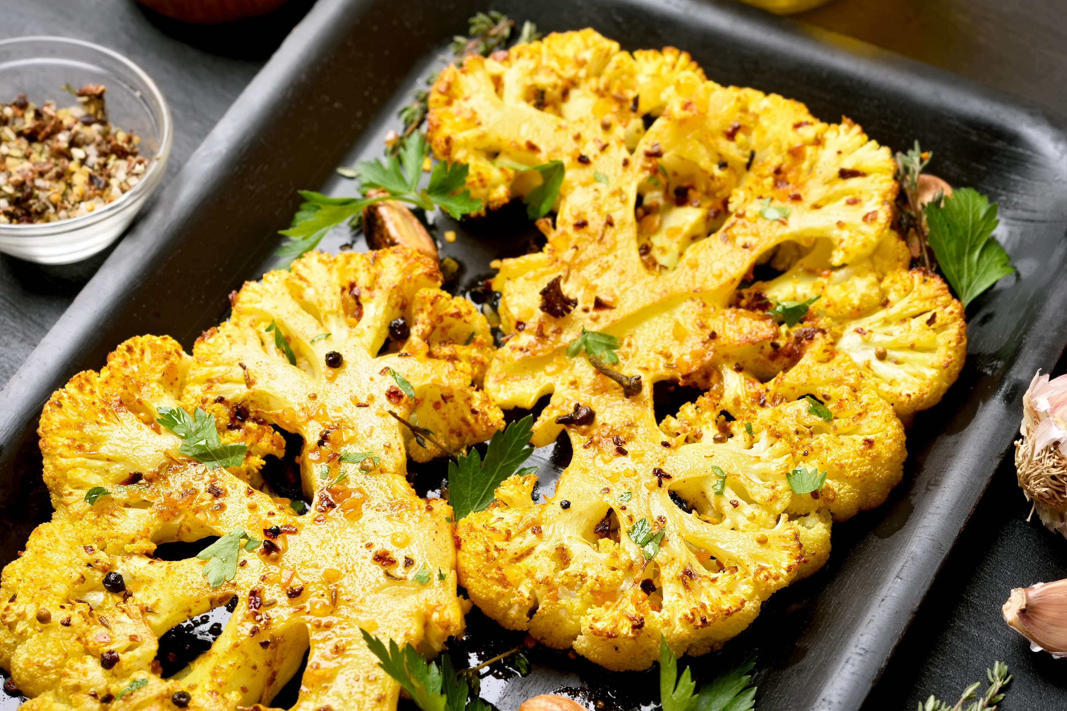 Oven-Roasted Cauliflower With Garlic Recipe | RecipeSavants.com