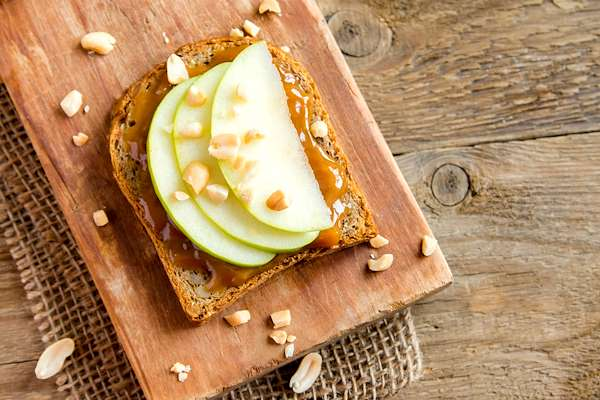 Pan Fried Peanut Butter & Apple Sammy Recipe