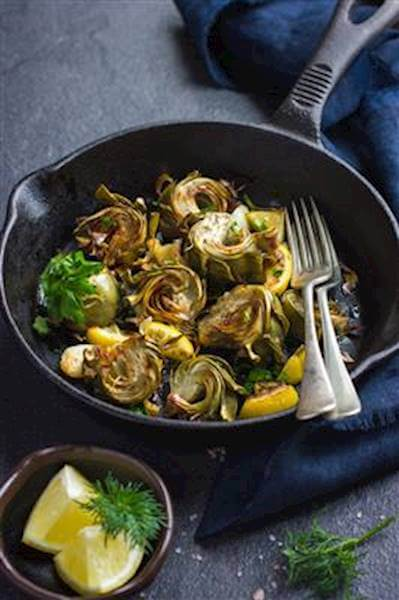 Pan Roasted Artichokes Recipe