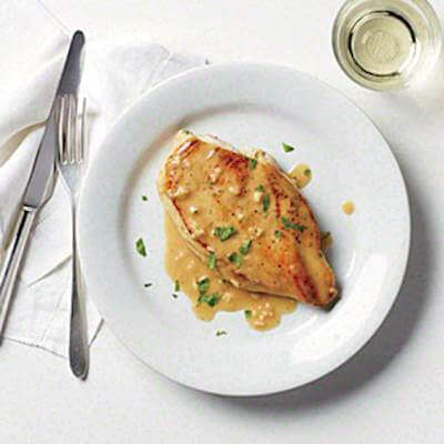 Pan Seared Chicken Steak With White Sauce Recipe