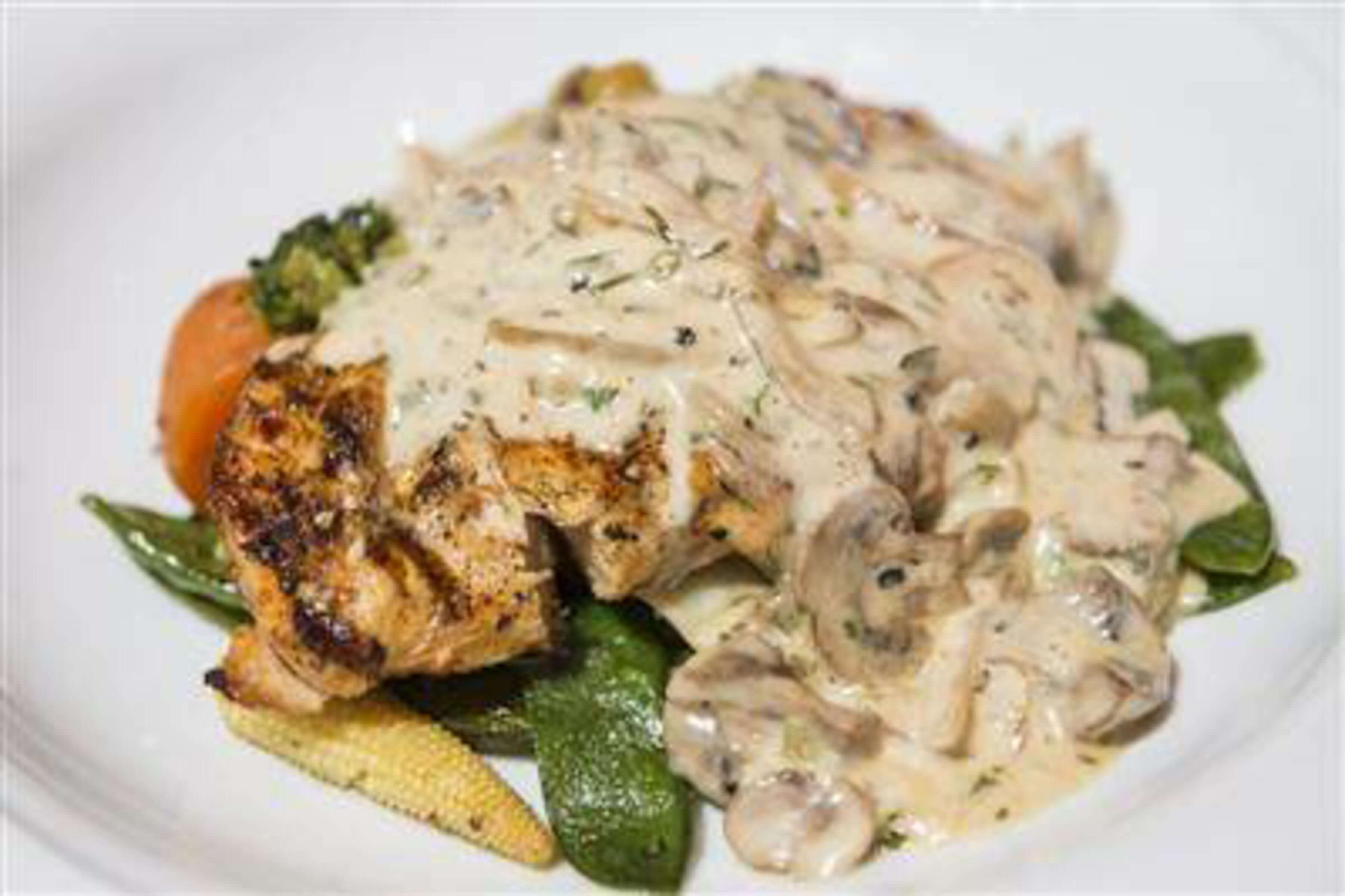 Pan Seared Chicken Strips With Mushroom Sauce Recipe | RecipeSavants.com