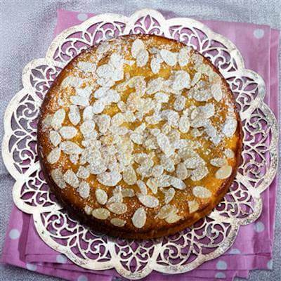 RecipeSavants - Passover Almond-Lemon Torte With Fresh Strawberry Sauce