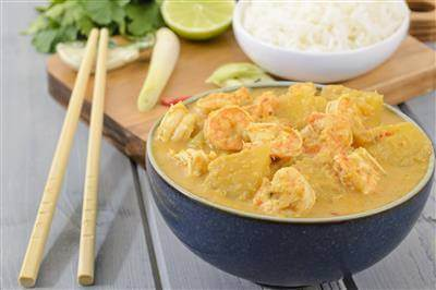 ChefBear Complete Meals - Pineapple Prawn Curry (Udang Masak Lemak Nenas)