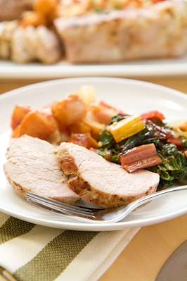 Pork Loin Medallions With Swiss Chard Recipe