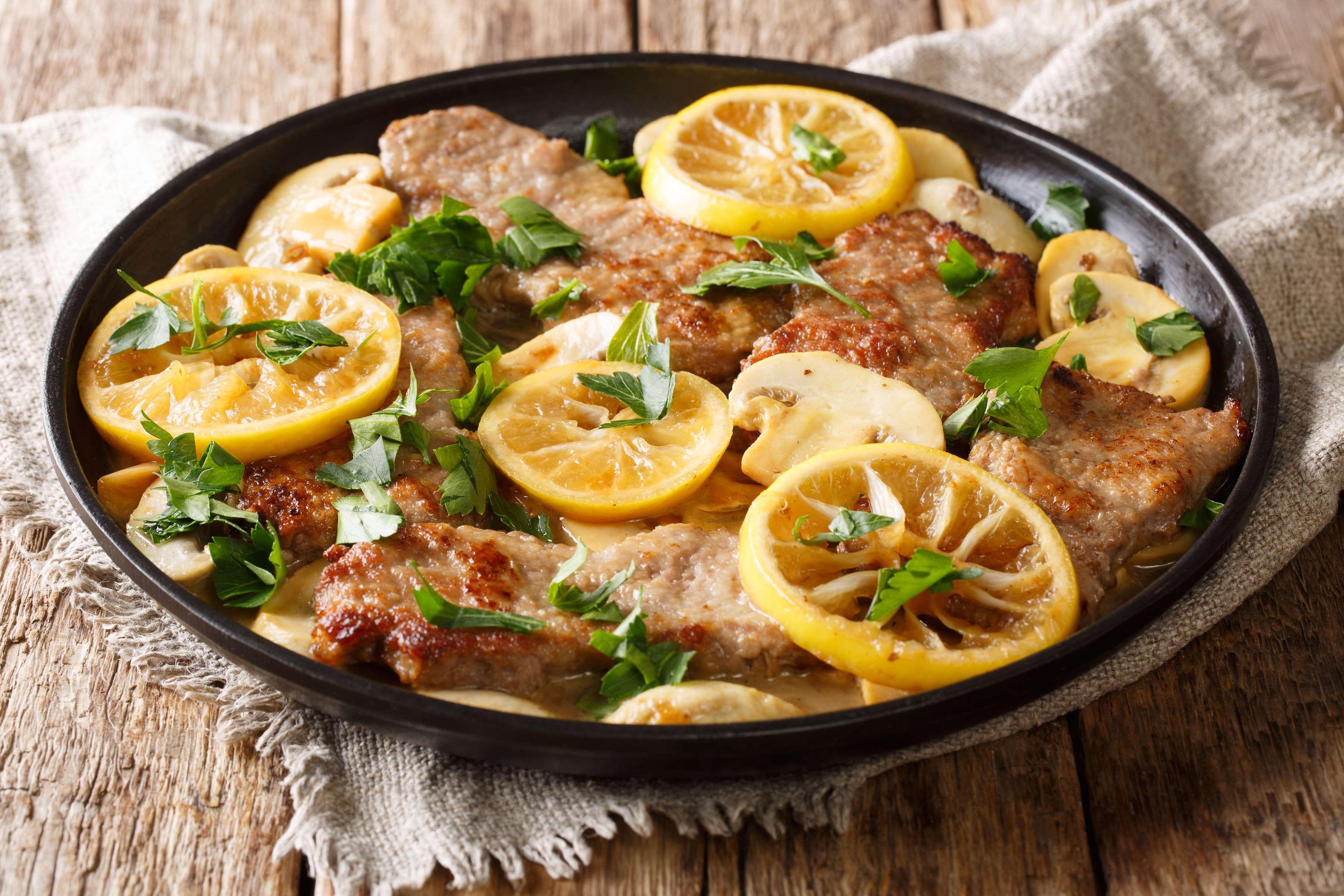 Pork Scaloppine With Sun-Dried Tomatoes And Rosemary Recipe