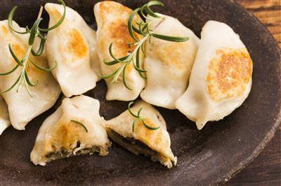RecipeSavants - Potato And Goat Cheese Pierogi