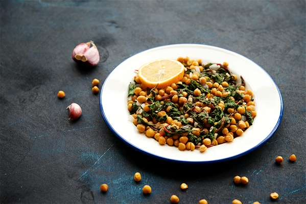 Roasted Chickpeas & Chard Recipe