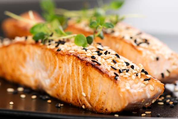 Roasted Ginger Salmon With Sesame Seeds Recipe