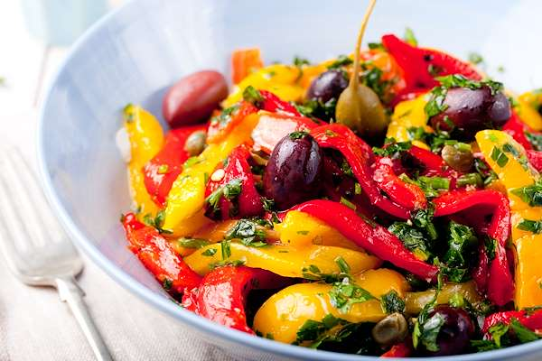 Roasted Red Pepper Salad Recipe