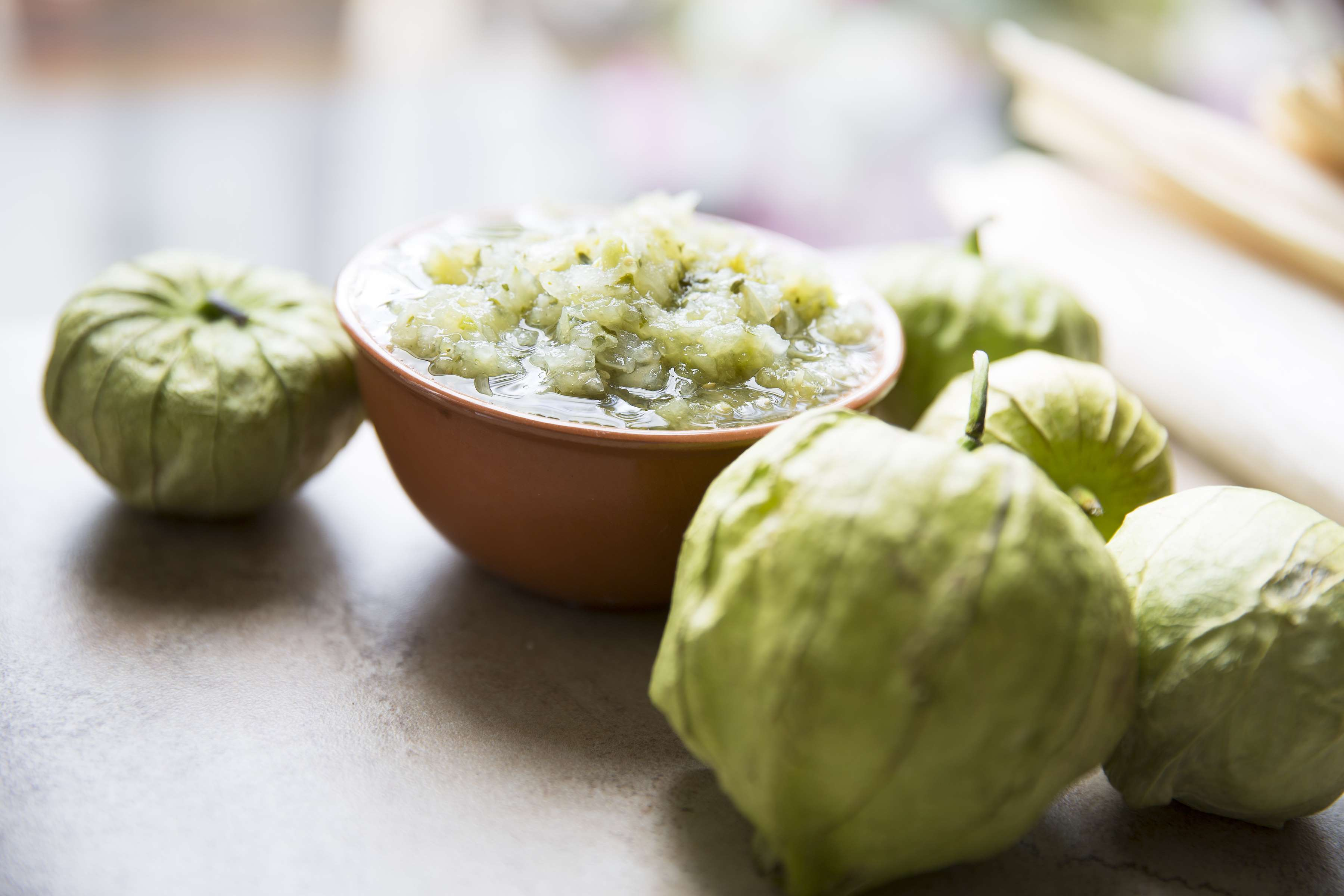 Roasted Tomatillo Salsa Recipe | RecipeSavants.com