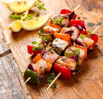 Salmon Confetti Skewers Recipe