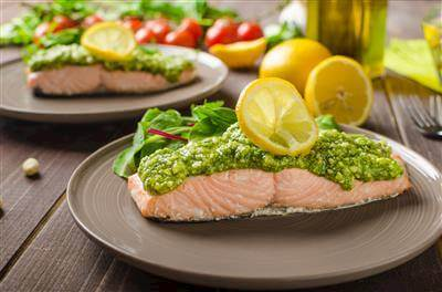 RecipeSavants - Salmon With Fresh Sorrel Sauce