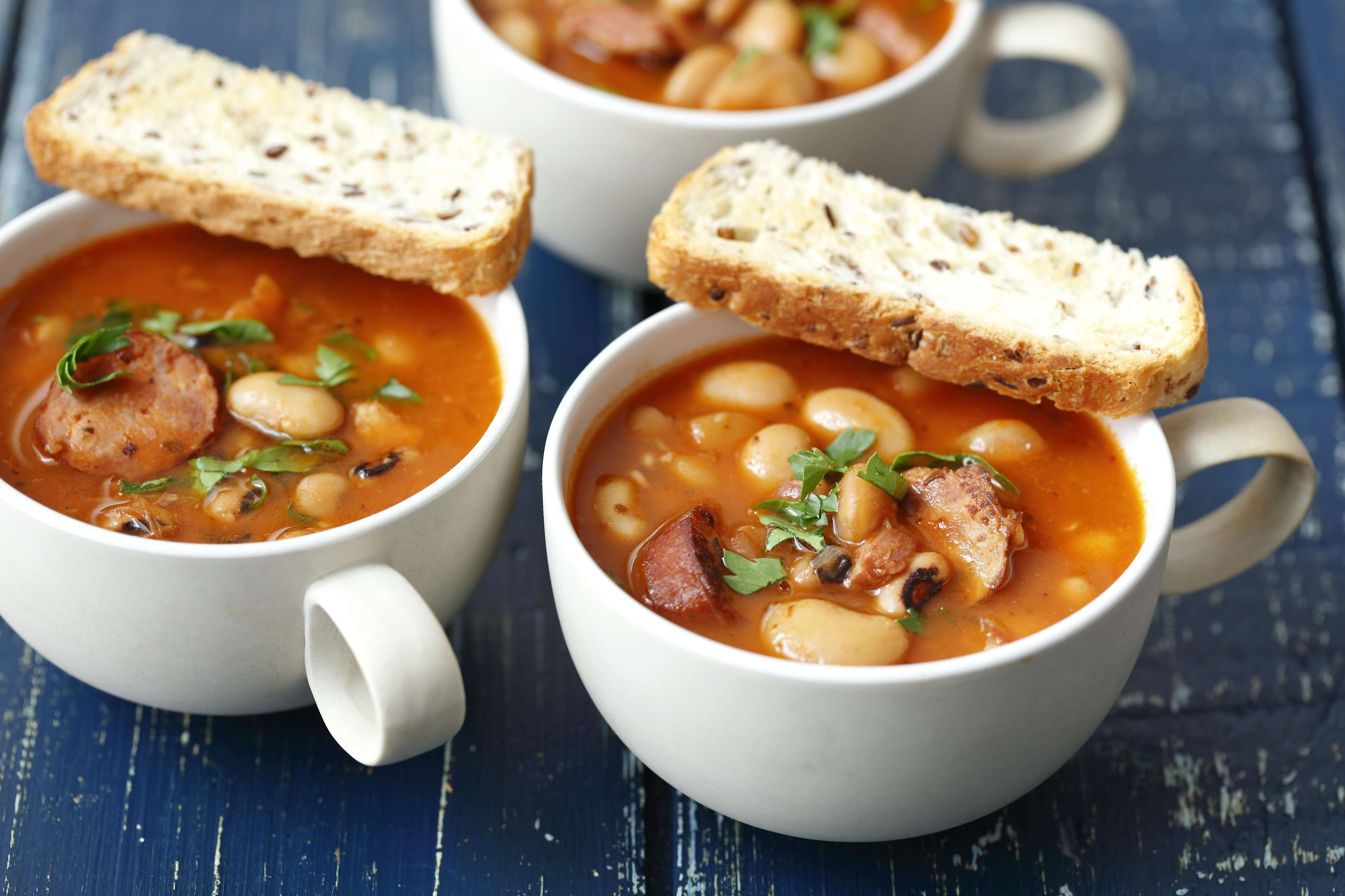 Sausage and Beans Soup Recipe | CHEFBear.net