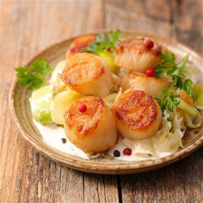 Scallops With Leeks Recipe