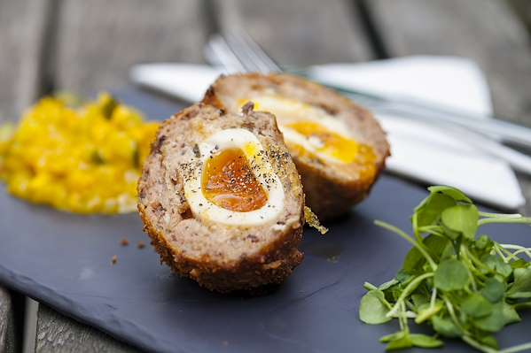 ChefBear Complete Meals - scotch eggs with curried mayo