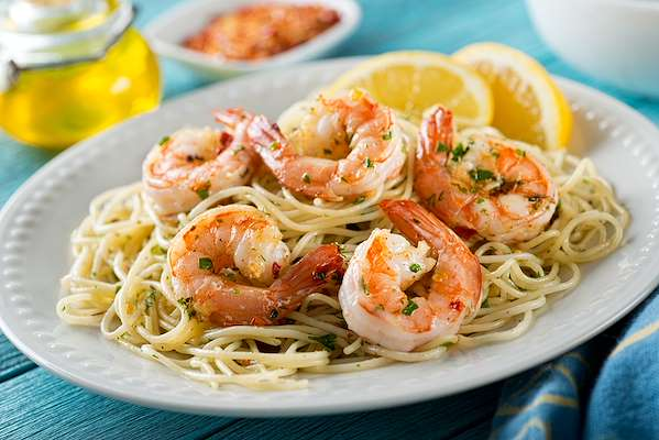 shrimp scampi with angle hair pasta Recipe Of The Day