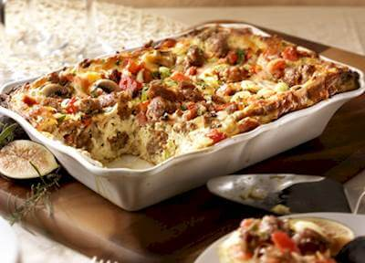 Sicilian Strata With Hot Italian Sausage Recipe
