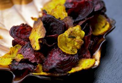 Simple Salted Beet Chips Recipe