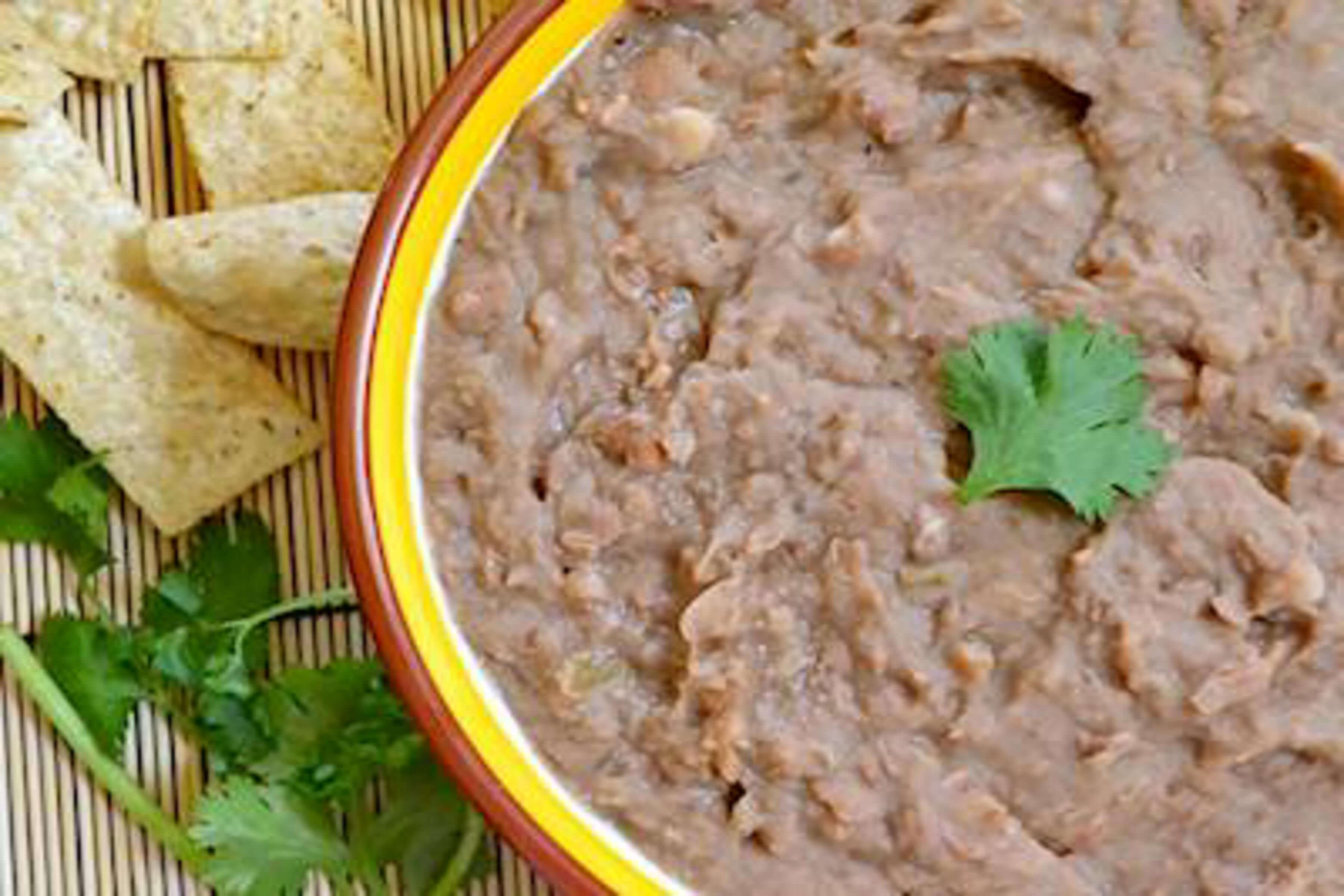 Slow Cooked Refried Beans Recipe | RecipeSavants.com