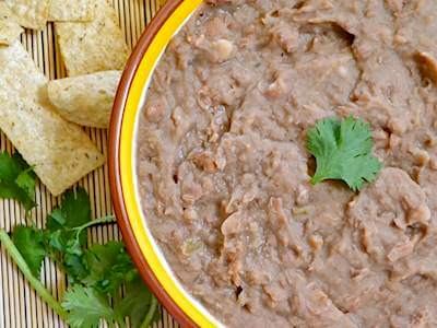 Slow Cooked Refried Beans Recipe