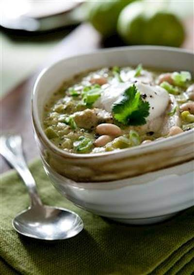 Slow Cooker Green Chicken Chili Recipe