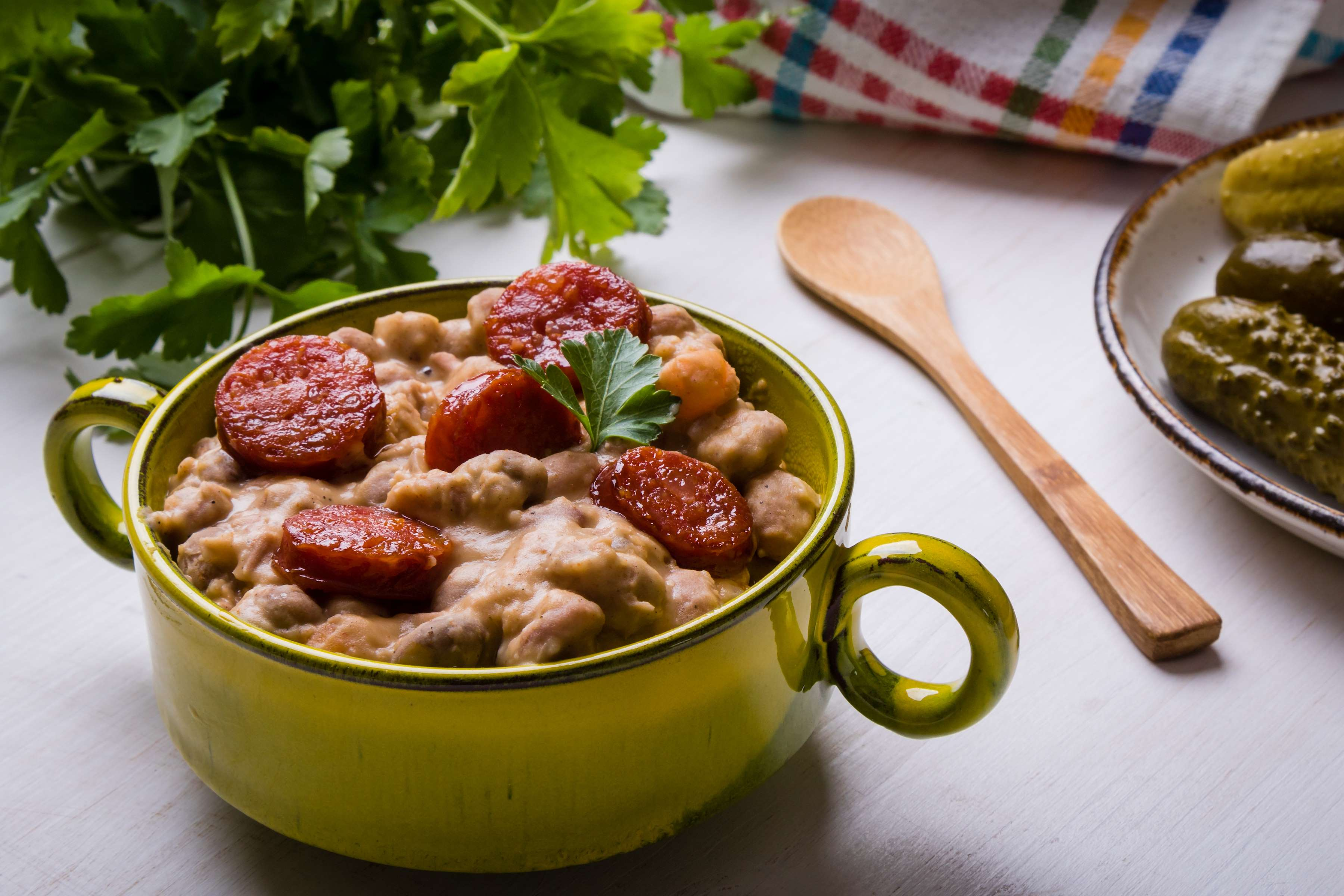 Smoked Sausage and Bean Cassoulet Recipe | CHEFBear.net