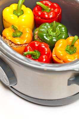 So Good Slow Cooker Stuffed Peppers Recipe