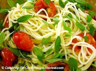 Spaghetti With Sweet Cherry Tomatoes, Marjoram & Extra Virgin Olive Oil Recipe