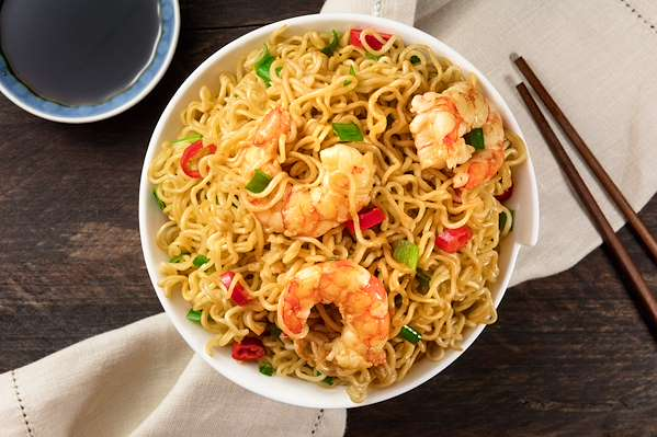 Spicy Shrimp & Noodle Bowls Recipe