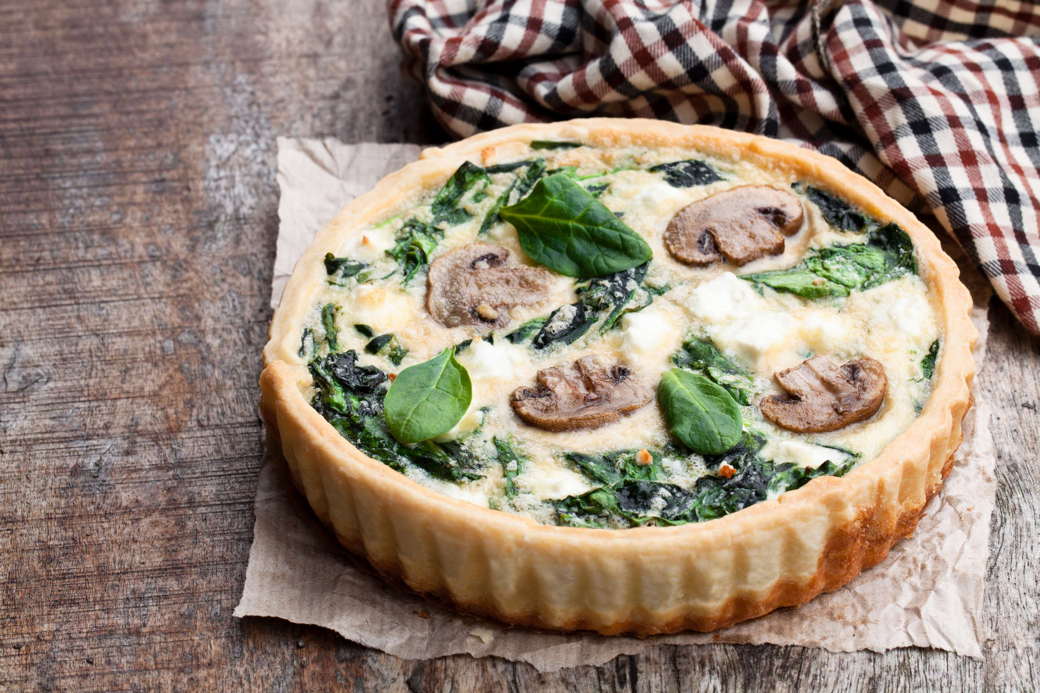 Spinach And Mushroom Quiche Recipe | CHEFBear.net