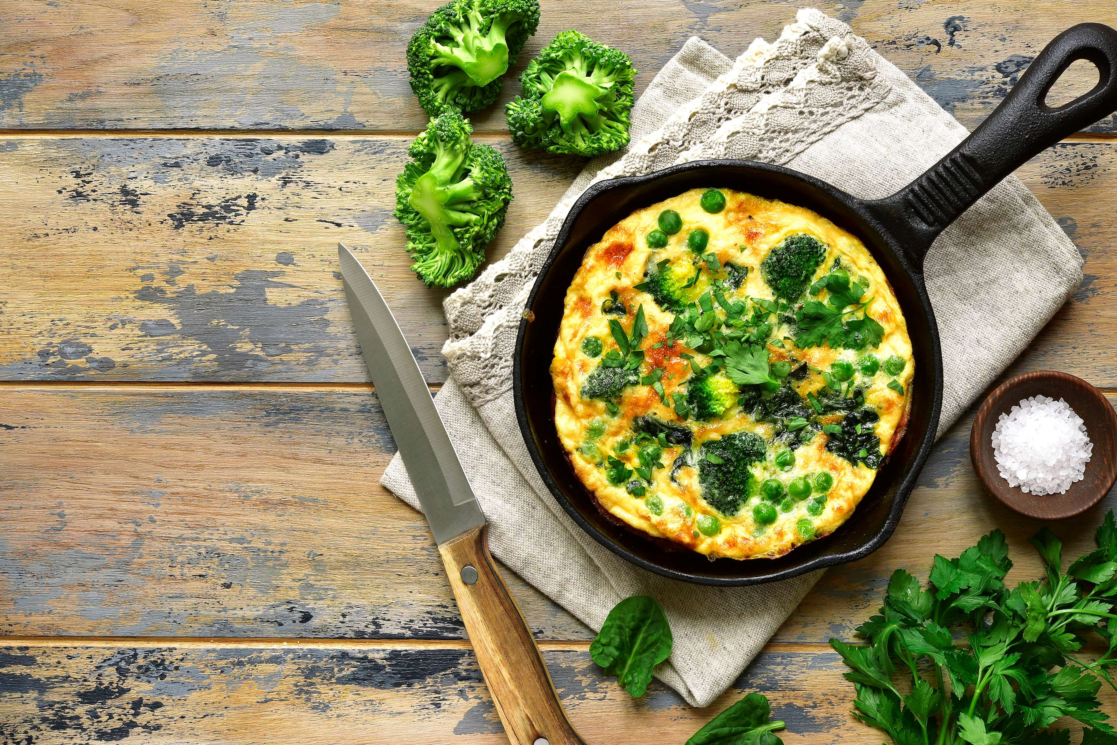 Spring Vegetable Frittata Recipe | CHEFBear.net