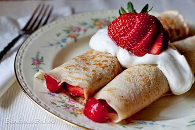 Strawberry Crepes Recipe