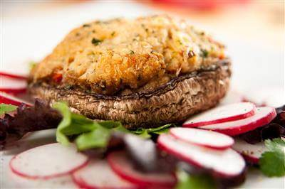 Stuffed Mushroom With Fresh Crab Recipe